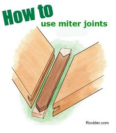 Using Miter Joints to Assemble Picture Frames, Shadow Boxes, Moldings and More. Rockler.com Woodworking Tools