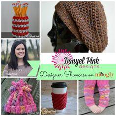 Danyel Pink Designs: 5 Free Patterns in the Moogly Designer Showcase! Crochet Round, Love Crochet, Knit Crochet, Crochet Hats, Crochet Patterns For Beginners, Knitting Patterns, Crochet Magazine, Pink Design, Crochet Scarves