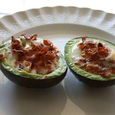 Avocado Bacon  Eggs, totally yummy  help kick sugar cravings! via OMG I Love Cooking #lowcarb