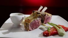 Crusted Lamb with Parsnip Purée and Roasted Bullhorn Capsicum