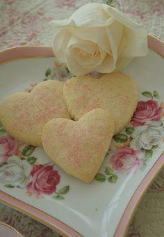 simple, sweet, heart-shaped cookies