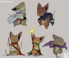 MOUSE GUARD rat too cute of, Let's draw is imitated.  (Design you want Shutting…
