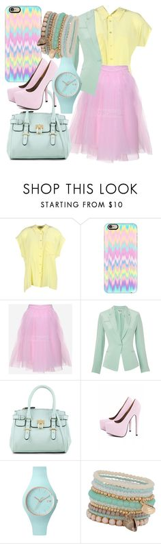 """Pastel Business"" by egordon2 ❤ liked on Polyvore featuring Equipment, Casetify, Ohne Titel, ALDO, AX Paris, Ice-Watch, pastel, workoutfits and PastelAccessories"