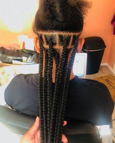 Box Braids Medium Length, Large Box Braids, Short Box Braids, Jumbo Braids, Long Braids, Jumbo Box Braids Styles, Kids Box Braids, Medium Hair Braids, Braided Hairstyles For Black Women Cornrows