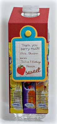 Simply Elegant Paper Crafts blog; water bottle tags