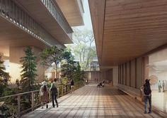Herzog & de Meuron diseñan nueva galería de arte en Vancouver,Patio Galería. Imagen © Herzog & de Meuron