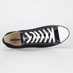 CONVERSE Chuck Taylor All Star Low Mens Shoes #chucks #chucktaylors #converse #black #summer #backtoschool #summervacations #party #blackshoes
