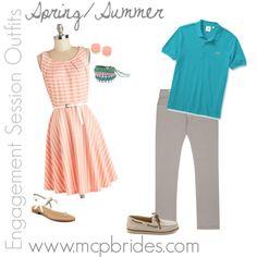 Spring/Summer Engagement Session Outfit Ideas Peach and Aqua mcpbrides.com Elizabethtown, KY