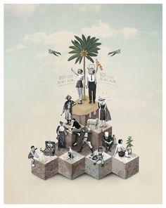 Poolga Wallpapers by Davide Parere, via Behance