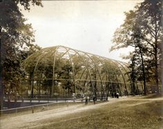 U.S. Government Bird Cage at the 1904 World's Fair. They still use this structure in the St. Louis Zoo. Many of the buildings built for the world's fair are being used today as museums and such.