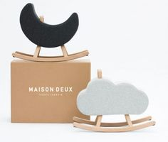 Iconic Rockers from Maison Deux Color Crafts, Works With Alexa, French Oak, Bassinet, Horses, Toys, Modern, Furniture, Baby