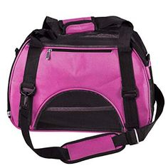 Mogoko Airline Approved Soft Sided Pet Carrier Travel Tote Bag Portable Handbag Shoulder Bag for Puupy Dogs Cats Rabbits Medium Red *** Click image for more details. (This is an affiliate link) Oxford, Dog Travel Crate, Airline Pet Carrier, Cat Cages, Pet Supply Stores, Cat Carrier, Puppy Carrier, Travel Handbags, Dog Diapers