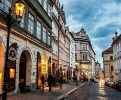 Nerudova street in Lesser Town Tower, Prague, Czechia