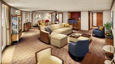 Signature Suite Rendering on Seabourn Encore ~ New Seabourn Encore Suites Presented by Seabourn Cruise Line | Popular Cruising (Image Copyright © Seabourn Cruise Line)