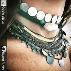 "katerina_ioannidis jewellery. We love this ""summertime in Lebanon"" combination by @sighabijoux!!!"