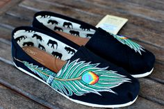 peacock feather TOMS... amazing.