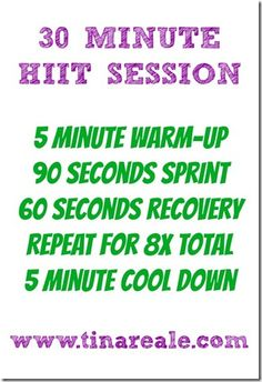 30 min HIIT and other speed workouts