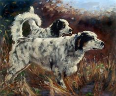 Hunting Dogs CUSTOM Pet Portrait oil Paintings by puciPetPortraits