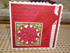 Christmas card - stamping, pro markers, distressing, embossing and die cutting