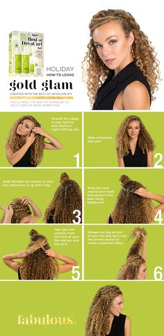 Gold Glam! Holiday Party season is here. Do you want party perfect curls you can achieve on your own? Yes please. Check out this step-by-step -- it's simple! Tap pic to explore our limited edition holiday kits, including the Best of DevaCurl Kit Lilli used.