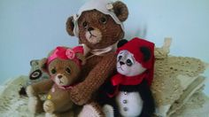 My bears.  See on Etsy Sweetheartthreads