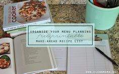Finally! Get on top of your menu planning with this FREE Printable Make-Ahead Recipe List via Clean Mama.