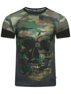 Philipp Plein Mimi Camouflage T-Shirt Black Camo Fashion, Luxury Fashion, Mens Fashion, Philipp Plein T Shirt, Camouflage T Shirts, Surf Wear, Designer Clothes For Men, Trends, Passion For Fashion