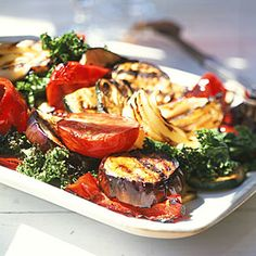 Grilled Vegetables with Balsamic Vinaigrette | CookingLight.com #myplate #vegetables