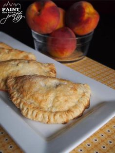 Mini peach hand pies. | Totally doing this tonight with our leftover peaches.