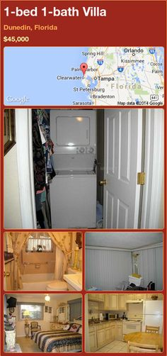 1-bed 1-bath Villa in Dunedin, Florida ►$45,000 #PropertyForSale #RealEstate #Florida http://florida-magic.com/properties/81497-villa-for-sale-in-dunedin-florida-with-1-bedroom-1-bathroom
