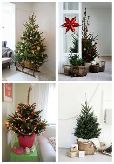 Cool Small Christmas Tree Decor Ideas If you don't have much space for a large Christmas tree, it's no problem as a small Christmas tree will give you no less joy and fun than a larger one. Minimalist Christmas Tree, Tiny Christmas Trees, Christmas Door Decorations, Simple Christmas, Christmas Home, Christmas Lights, Holiday Decor, Christmas Ideas, Vintage Christmas