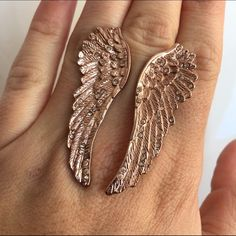 WILDFOX RARE ANGEL WINGS RING IN ROSE GOLD New Wildfox Jewelry Rings