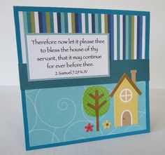 New Home Handmade Christian Housewarming Card With Scripture by stufffromtrees on Etsy