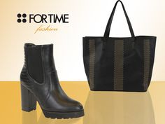 Bota y bolso shopper FOR TIME