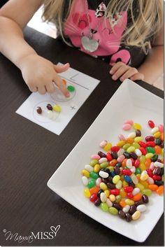 Jellybean Math for preschoolers from @Melissa {mama♥miss} Love it! #preschool #mathed