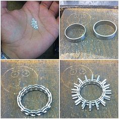 Full shared claw eternity ring from start to pre set stage..