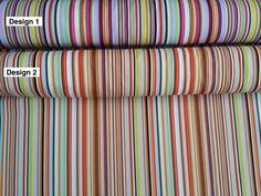 Rose and Hubble Cotton Colorful stripes art deco dress fabric crafts cushions, patchwork, quilting, bunting dress FABRICS - By the Metre
