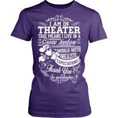0bbea34559f Theater - Crazy Fantasy - District Unisex Shirt   Purple   S - 1 Drama  Theatre