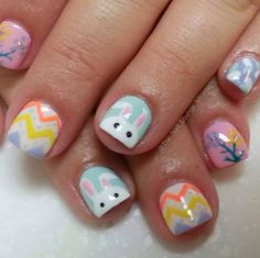 The Nail Lounge, Miramar, Fl Easter Nail Designs, Easter Nail Art, Cute Nail Designs, Really Cute Nails, Hair And Nails, Pretty, How To Make, Beauty, Nail Ideas