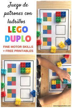 Juego de patrones con ladrillos LEGO DUPLO | LEGO DUPLO Pattern activity for kids | www.legoactivities.com