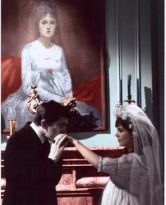 Another shot of Barnabas and Josette/Maggie in front of Josette's portrait