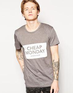 Cheap Monday T-Shirt Bruce Inverted Box Logo Print