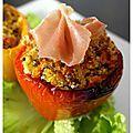 Une recette haute en couleur et en saveurs ;-) Ingrédients :pour 2 personnes 2 poivrons 1 tomate 75 g de feta 80 g de quinoa 1...