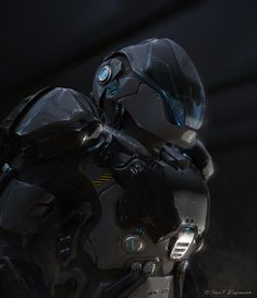 Cyborg Commando, #Futuristic, #Paintings & #Airbrushing, #Robots, #Sci-Fi