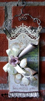 Heartfelt Creations | To A Beautiful You Tag use my metal curly handles to hang mini canvases from!