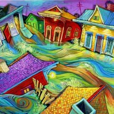 Through the Streets ~ Terrance Osborne - I have this print in my den.  I wanted a Katrina print and this was one of my personal favorites
