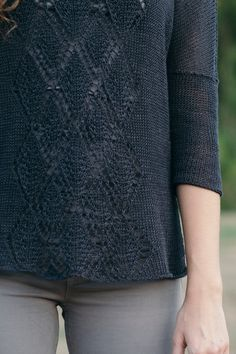 gilead by leila raabe / from the linen noir collection by the quince design team / in quince & co. sparrow, color eclipse