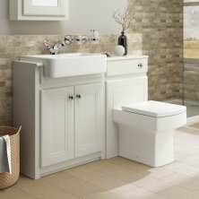 Traditional Bathroom Vanity Unit Basin Sink Back To Wall Toilet Btw intended for Traditional Bathroom Furniture - Home Interior Design Sink Vanity Unit, Bathroom Vanity Units, Bathroom Cabinets, Tub And Shower Faucets, Bathroom Faucets, Bath Taps, Bathtub, Traditional Bathroom Furniture, Cream Bathroom Furniture
