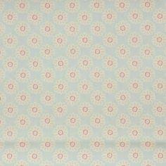 Daisy Fabric - Duckegg (F0364 / 04) - Clarke & Clarke Nostalgic Prints Fabrics Collection