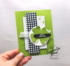 Lucky Day by wendy lee, stampin up, stamping, SU, St Patricks Day Cards, Stampinup, Lucky Day, Les Sentiments, Card Tags, Scrapbook Cards, Scrapbooking, Diy Cards, Stampin Up Cards